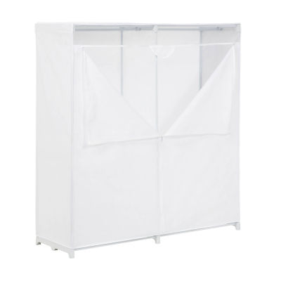 Honey-Can-Do® White Storage Closet