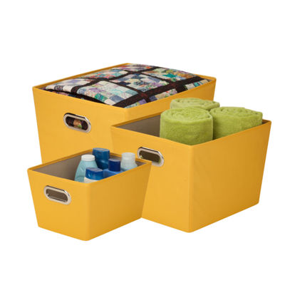 Honey-Can-Do® 3-pc. Yellow Tote Kit