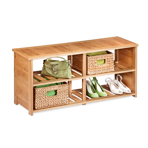 Honey-Can-Do® 10-Pair Bamboo Shoe Bench