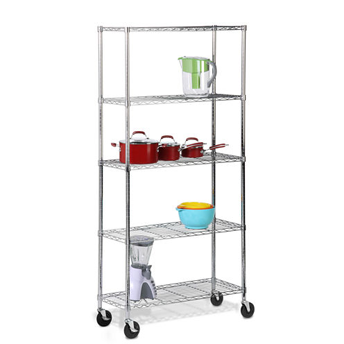 Honey-Can-Do® 5-Tier Shelving Unit with Casters