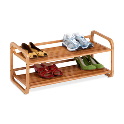 Honey-Can-Do® 2-Tier Bamboo Shoe Rack