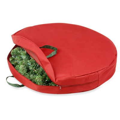 "Honey-Can-Do® 30"" Canvas Holiday Wreath Storage Bag"