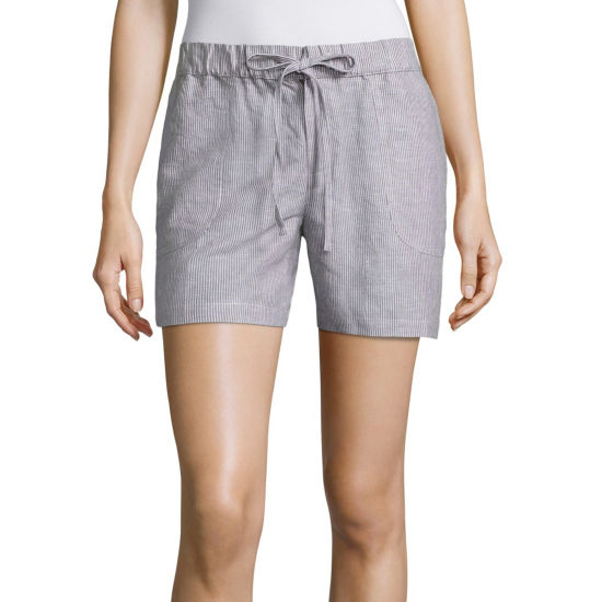 "Liz Claiborne 5"" Knit Pull-On Shorts"