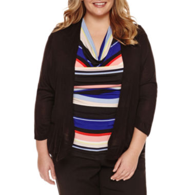 Worthington® Essential 3/4 Sleeve Cardigan - Plus