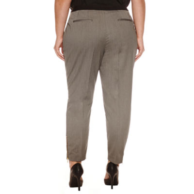 "Worthington Cigarette Zip Ankle Pants 26"" -Plus"