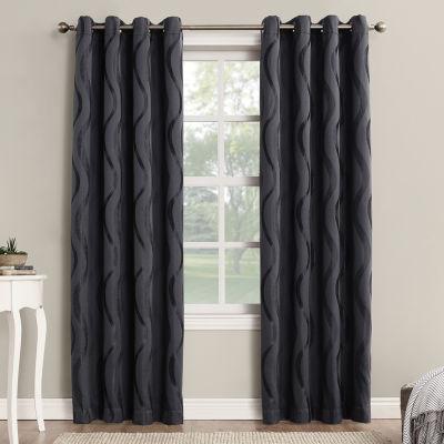 Sun Zero™ Stratton Room-Darkening Grommet-Top Curtain Panel