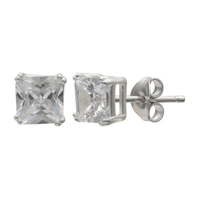 Silver Treasures Sterling Silver 6mm Stud Earrings