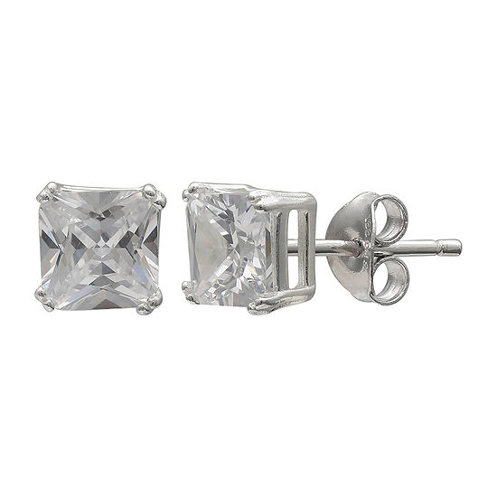 Silver Treasures Sterling Silver 6mm Stud Earrings