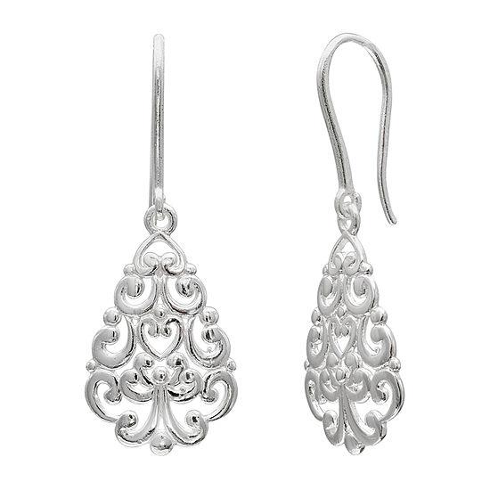 Silver Treasures Sterling Silver Drop Earrings