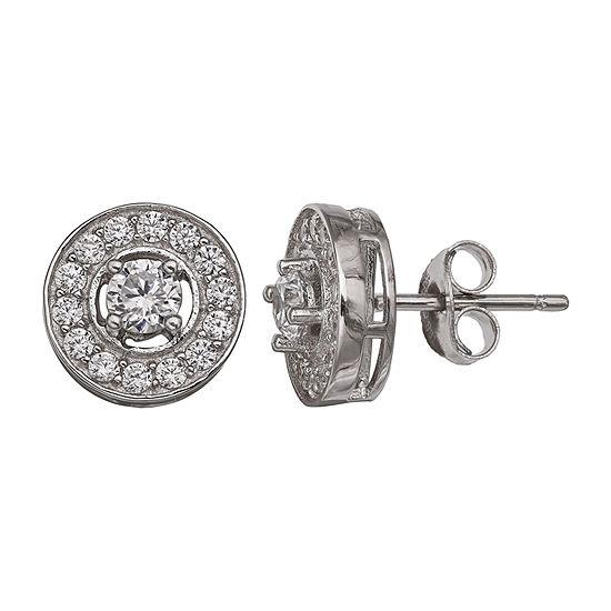 Silver Treasures Sterling Silver 10mm Stud Earrings