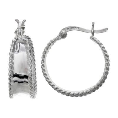 Silver Treasures 18mm Hoop Earrings