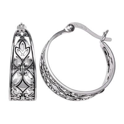 Silver Treasures 20mm Hoop Earrings