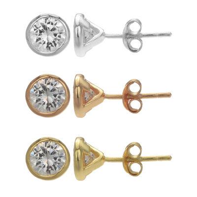 Silver Treasures 3 Pair Earring Set