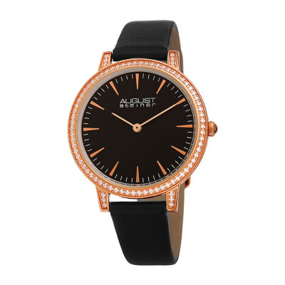 August Steiner Womens Black Strap Watch-As-8274bkr