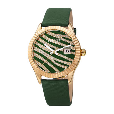 August Steiner Womens Green Strap Watch-As-8275gn