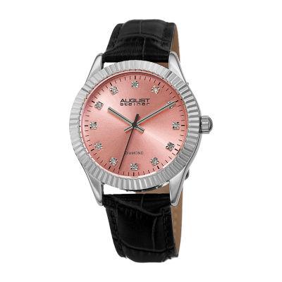 August Steiner Womens Black Strap Watch-As-8277bk