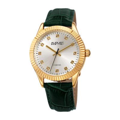 August Steiner Womens Green Strap Watch-As-8277gn