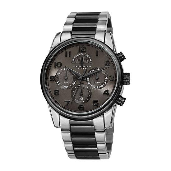 Akribos XXIV Mens Two Tone Bracelet Watch-A-1042ttb
