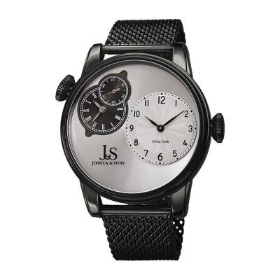 Joshua & Sons Mens Black Bracelet Watch-J-154bk