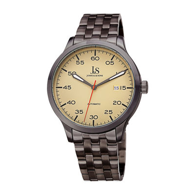 Joshua & Sons Mens Gray Bracelet Watch-J-149gn
