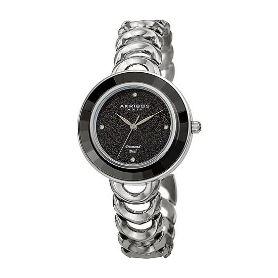 Akribos Xxiv Womens Silver Tone Bracelet Watch A 1088ssb