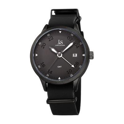 Joshua & Sons Mens Black Strap Watch-J-147bk