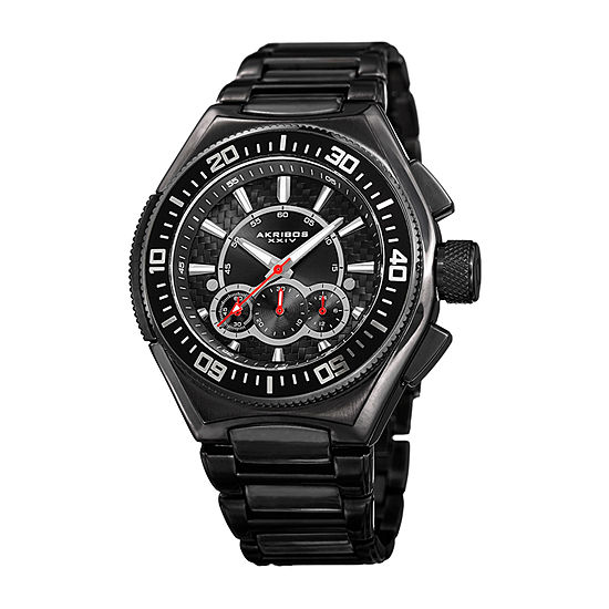 Akribos Xxiv Mens Black Bracelet Watch A 910bk