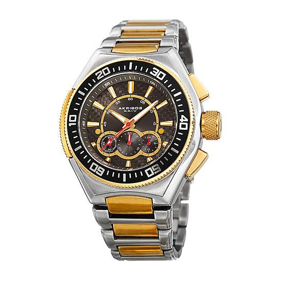 Akribos XXIV Mens Two Tone Bracelet Watch-A-910ttg
