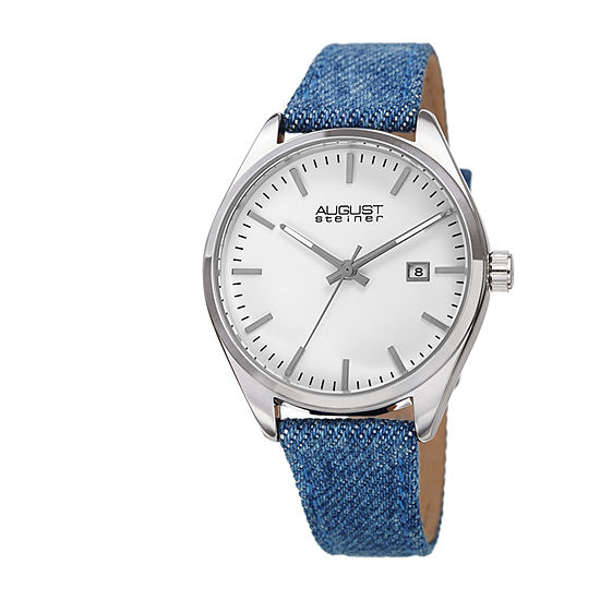 August Steiner Womens Blue Strap Watch-As-8266ss