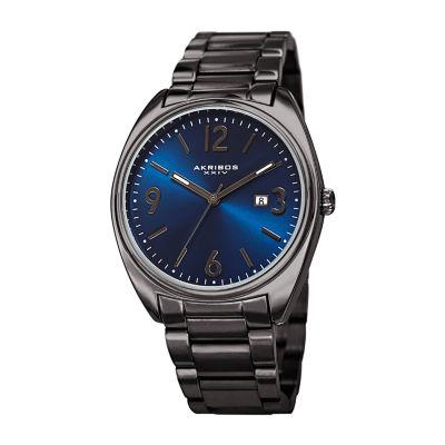 Akribos XXIV Mens Gray Bracelet Watch-A-957gnbu