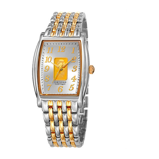 August Steiner Mens Two Tone Bracelet Watch As 8226ttg