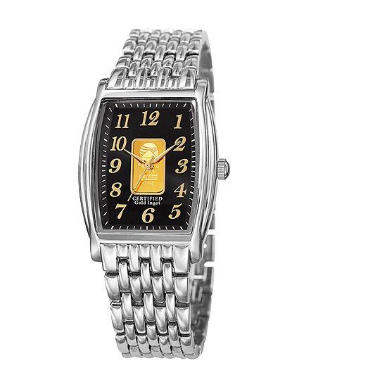 August Steiner Mens Silver Tone Bracelet Watch-As-8226ssb