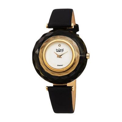 Burgi Womens Black Strap Watch-B-252bk