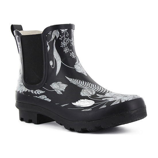 Western Chief Womens Heirloom Plaid Floral  Waterproof Rain Boots