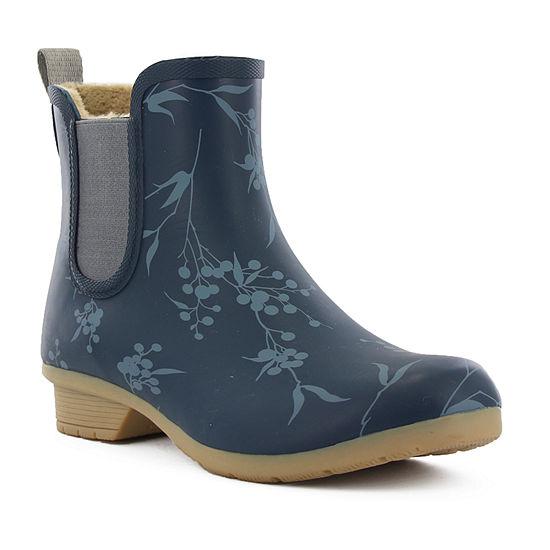 Chooka Fashion Womens Bainbridge Salma Rain Boots Waterproof Flat Heel