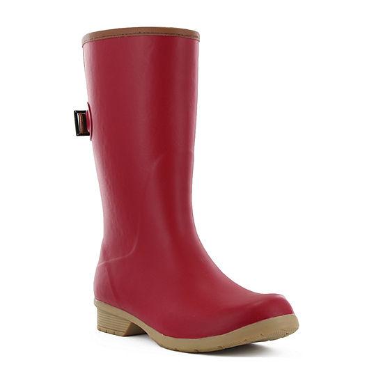 Chooka Fashion Womens Bainbridge Adjustable Rain Boots Waterproof Flat Heel