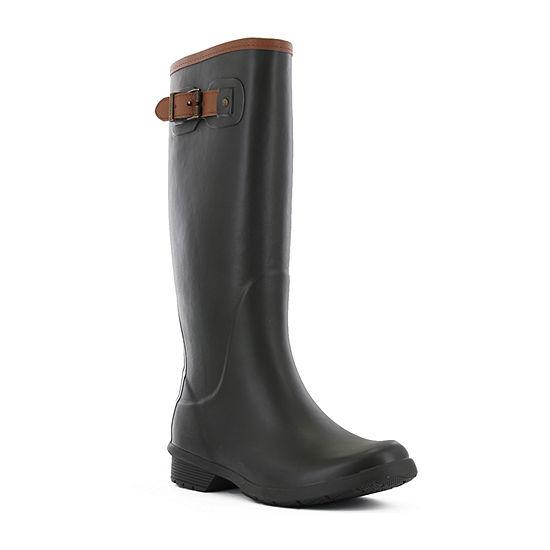 Chooka Fashion Womens City Solid Tall Rain Boots Waterproof