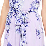 Jessica Howard Sleeveless Floral Maxi Dress