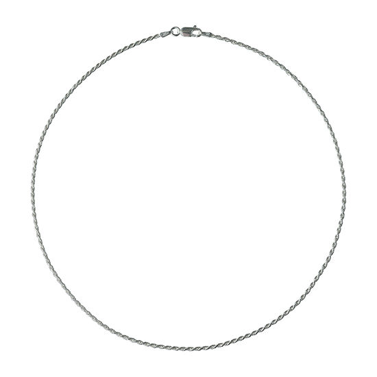 Made in Italy Sterling Silver 18 Inch Solid Rope Chain Necklace