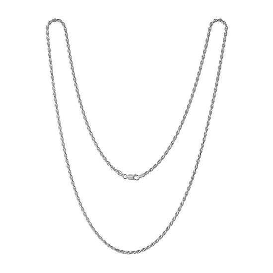 Made in Italy Sterling Silver 30 Inch Solid Rope Chain Necklace