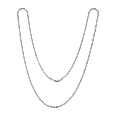 Made in Italy 30 Inch Solid Wheat Chain Necklace