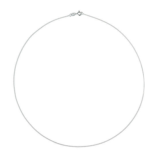 Made in Italy Sterling Silver 18 Inch Solid Curb Chain Necklace