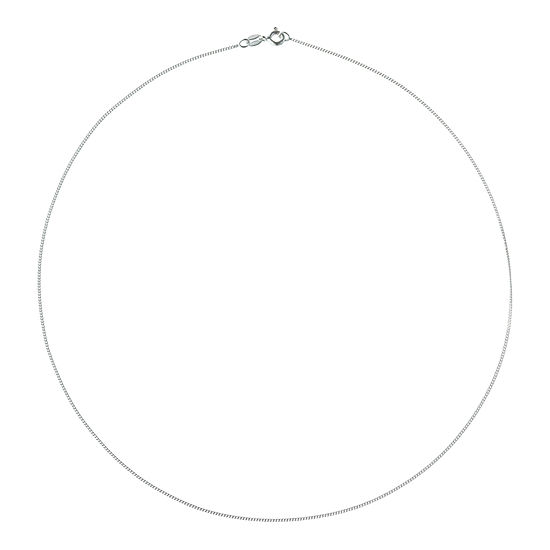 Made in Italy Sterling Silver 20 Inch Solid Curb Chain Necklace