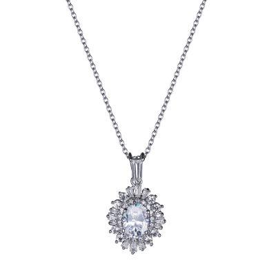 Diamonart Womens White Cubic Zirconia Pendant Necklace