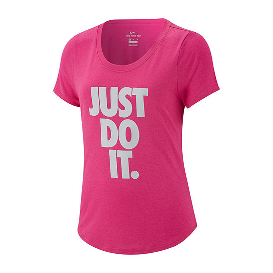 Nike Girls Scoop Neck Short Sleeve Graphic T-Shirt - Big Kid