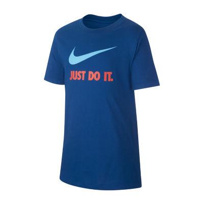 Nike Graphic Tee Boys Crew Neck Short Sleeve Graphic T-Shirt Preschool / Big Kid