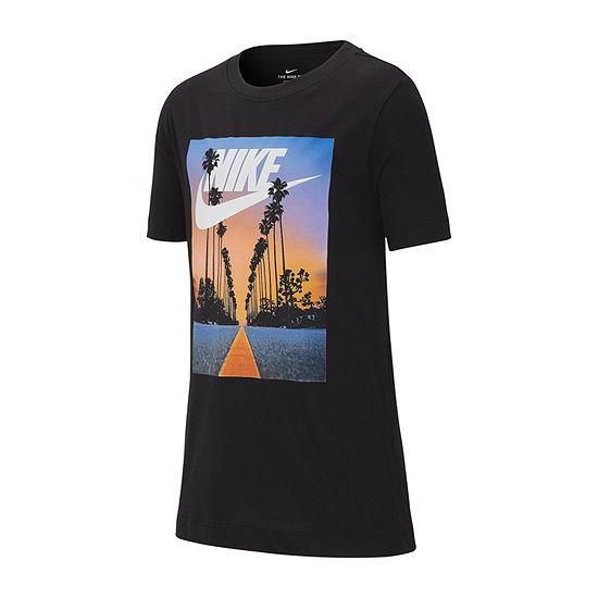 Nike Graphic Tee Boys Crew Neck Short Sleeve Graphic T-Shirt - Big Kid