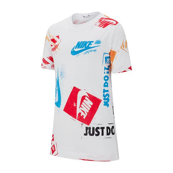 a6f9e3fe Nike Graphic Tee Boys Crew Neck Short Sleeve Graphic T-Shirt Preschool / Big  Kid - JCPenney
