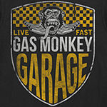 Big and Tall Gas Monkey Mens Crew Neck Short Sleeve Graphic T-Shirt