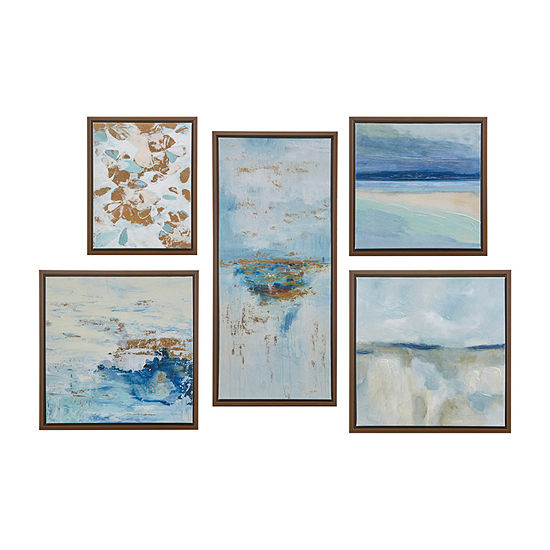 Madison Park Horizon 5-pc. Canvas Art